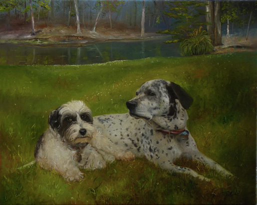 Pet portraits, Oil painting, Atlanta