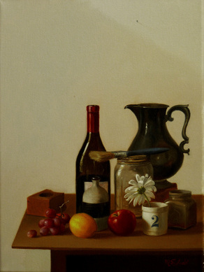 Fine art, still life oil painting