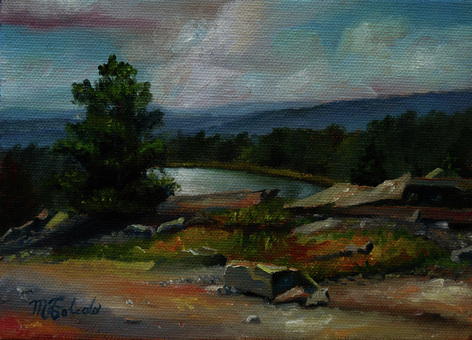 Fine art, Landscape oil paintings