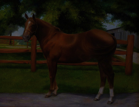 Pet portraits by Atlanta artist, horse painting